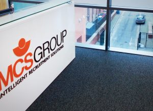 MCS acrylic lettering & frosted vinyl window graphics